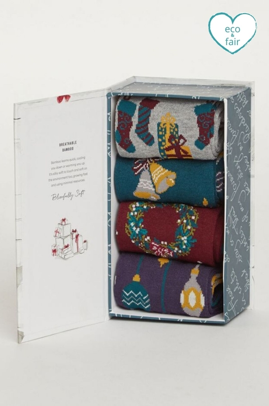 Thought chirstmas eve sock box multicolour