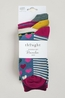 Thought hearts and stripes socks in a bag multicolour