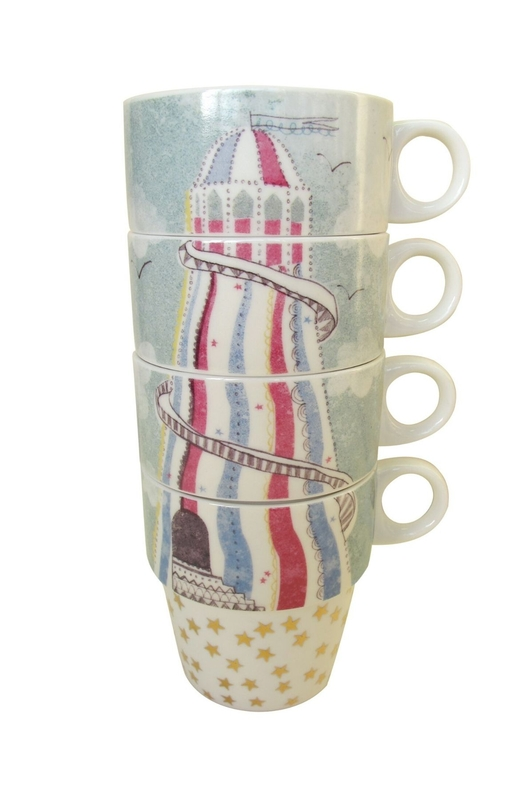 House of Disaster stack of cups (helter skelter) multicolour