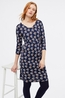 White Stuff jurk carrie dress blauw