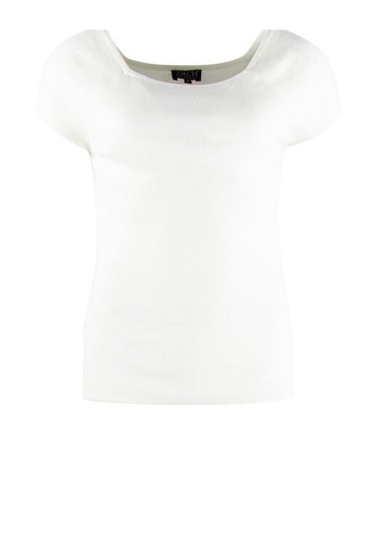 Zilch top short sleeve wit