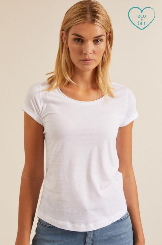 Lanius shirt kurzarm wit